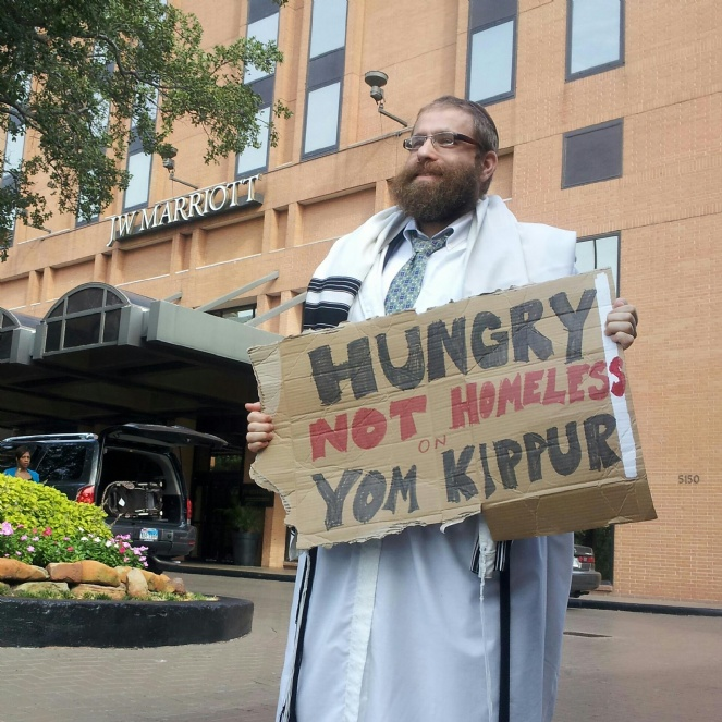HUNGRY not homeless on Yom Kippur