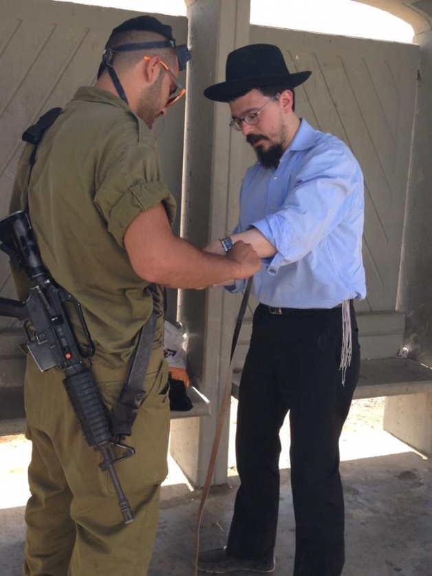 Rabbi Moishe Gourarie Chabad Toms River Israel Soldier