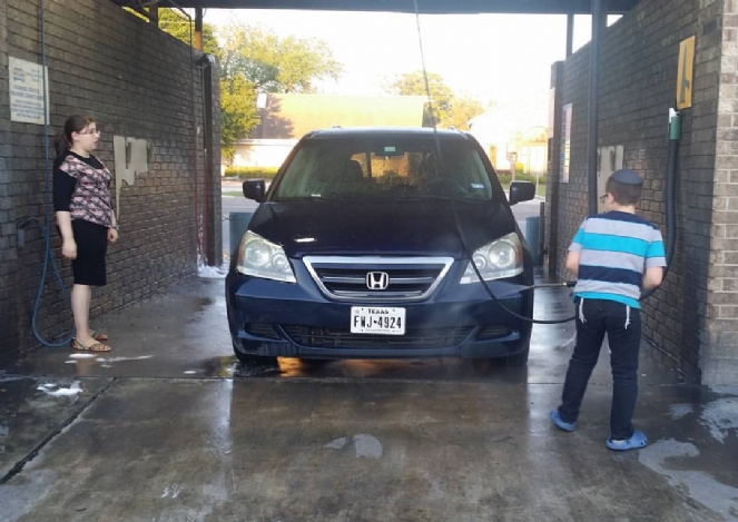 Pesach cleaning the car.jpg